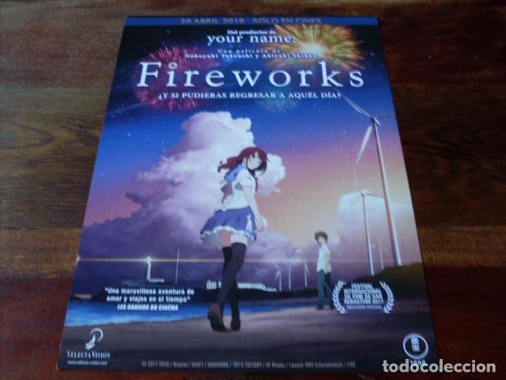 FIREWORKS - ANIMACION - DIR.NOBOYUKI TAKEUCHI,AKIYUKI SHINBO - GUIA ORIGINAL SELECTA VISION AÑO 2017 (Cine - Guías Publicitarias de Películas )