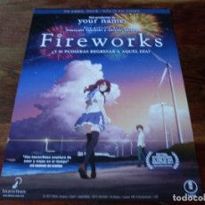 Cine: FIREWORKS - ANIMACION - DIR.NOBOYUKI TAKEUCHI,AKIYUKI SHINBO - GUIA ORIGINAL SELECTA VISION AÑO 2017. Lote 180272860
