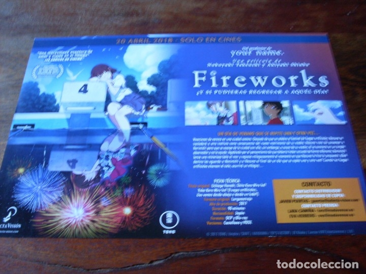 Cine: fireworks - animacion - dir.noboyuki takeuchi,akiyuki shinbo - guia original selecta vision año 2017 - Foto 2 - 180272860