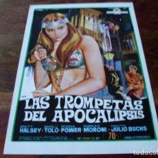 Cine: LAS TROMPETAS DEL APOCALIPSIS - BRETT HALSEY, ROMINA POWER - GUIA ORIGINAL ATLANTICA AÑO 1969 JANO. Lote 180273437