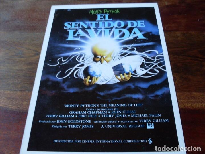 EL SENTIDO DE LA VIDA - MONTY PYTHON - ERIC IDLE, MICHAEL PALIN - GUIA ORIGINAL C.I.C AÑO 1983 (Cine - Guías Publicitarias de Películas )