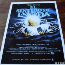Cine: EL SENTIDO DE LA VIDA - MONTY PYTHON - ERIC IDLE, MICHAEL PALIN - GUIA ORIGINAL C.I.C AÑO 1983. Lote 180274027