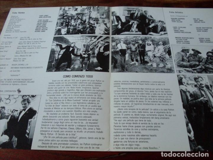 Cine: el sentido de la vida - monty python - eric idle, michael palin - guia original c.i.c año 1983 - Foto 2 - 180274027