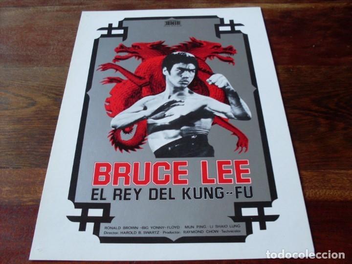 BRUCE LEE EL REY DEL KUNG-FU - LI SHAIO LUNG,RONALD BROWN,MUN PING - GUIA ORIGINAL MERCURIO AÑO 1976 (Cine - Guías Publicitarias de Películas )