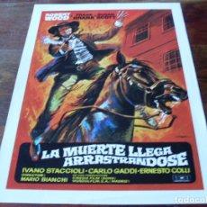 Cine: LA MUERTE LLEGA ARRASTRANDOSE - ROBERT WOOD,SUSAN SCOTT,FRANK BRAÑA GUIA ORIGINAL MUNDIAL AÑO 1972. Lote 180275905