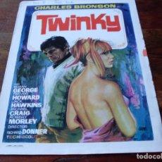 Cine: TWINKY - CHARLES BRONSON, SUSAN GEORGE, RICHARD DONNER - GUIA ORIGINAL AÑO 1970 JANO. Lote 180505527