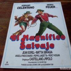 Cine: EL MAGNIFICO SALVAJE - ADRIANO CELENTANO, DEBRA FEUER, JEAN SOREL - GUIA ORIGINAL COLUMBIA AÑO 1987. Lote 180895597