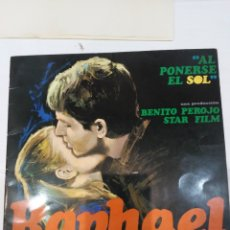 Cine: G4158 AL PONERSE EL SOL CINE ESPAÑOL RAPHAEL GUIA ORIGINAL ESPECIAL FILMAYER ESTRENO GUÍA LIBRITO D. Lote 181424467