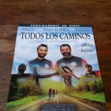 Cine: TODOS LOS CAMINOS - DANI ROVIRA, MARTINA SANTIAGO - GUIA ORIGINAL SELECTA VISION AÑO 2018. Lote 181781080