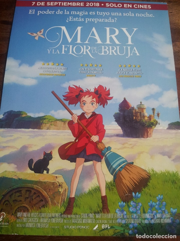 MARY Y LA FLOR DE LA BRUJA - ANIMACION - GUIA ORIGINAL SELECTA VISION AÑO 2018 (Cine - Guías Publicitarias de Películas )