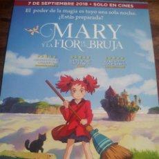 Cine: MARY Y LA FLOR DE LA BRUJA - ANIMACION - GUIA ORIGINAL SELECTA VISION AÑO 2018. Lote 181952310