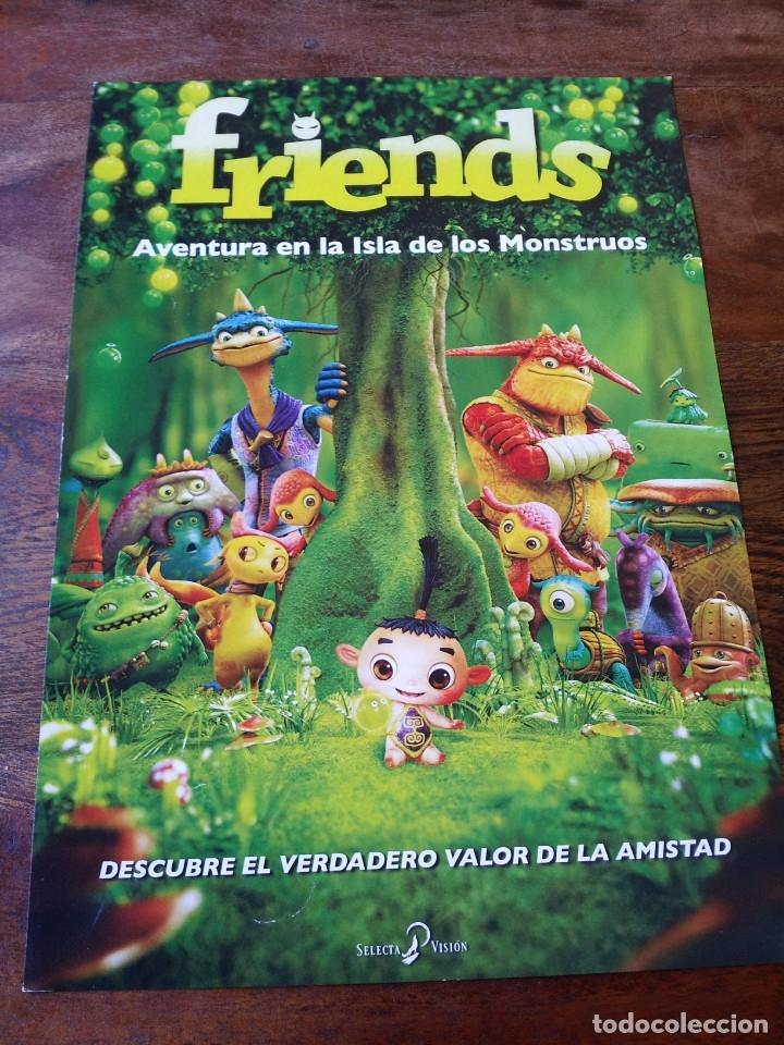 FRIENDS AVENTURA EN LA ISLA DE LOS MONSTRUOS - ANIMACION - GUIA ORIGINAL SELECTA VISION AÑO 2011 (Cine - Guías Publicitarias de Películas )