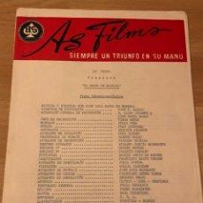 Cine: AS FILMS.EL GRANO DE MOSTAZA.MANOLO GÓMEZ BUR AMPARO SOLER LEAL JOSE BODALO. Lote 182081043