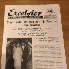 Cine: EXCELSIOR CB FILMS ACTUALIDAD CINEMATOGRÁFICA 1963.MARILYN MONROE CON FALDAS Y A LO LOCO. Lote 195145728
