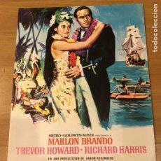 Cine: GUIA MGM REBELIÓN A BORDO.MARLON BRANDO TREVOR HOWARD RICHARD HARRIS. Lote 182107328