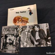 Cine: MARY POPPINS - JULIE ANDREWS - DICK VAN DYKE - INCLUYE 2 FOTOGRAFIAS ORIGINALES - . Lote 182461102