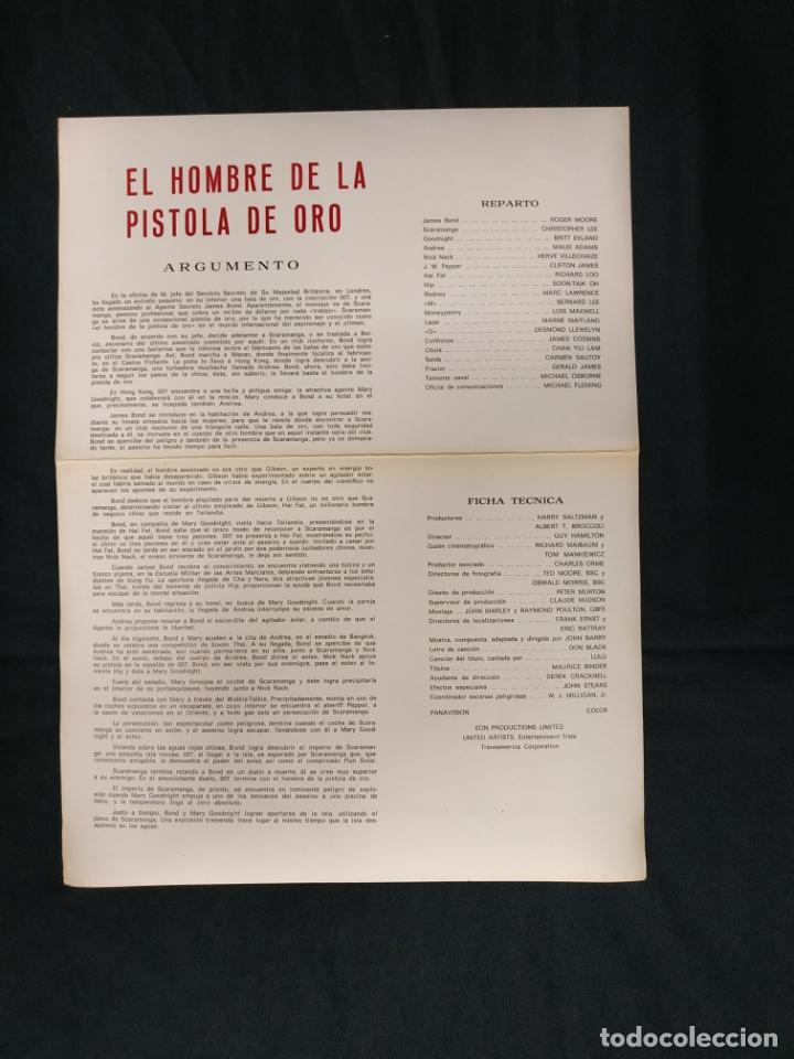 Cine: EL HOMBRE DE LA PISTOLA DE ORO - ROOGER MOORE - CHRISTOPHER LEE - BRITT EKLAND - - Foto 2 - 182989727