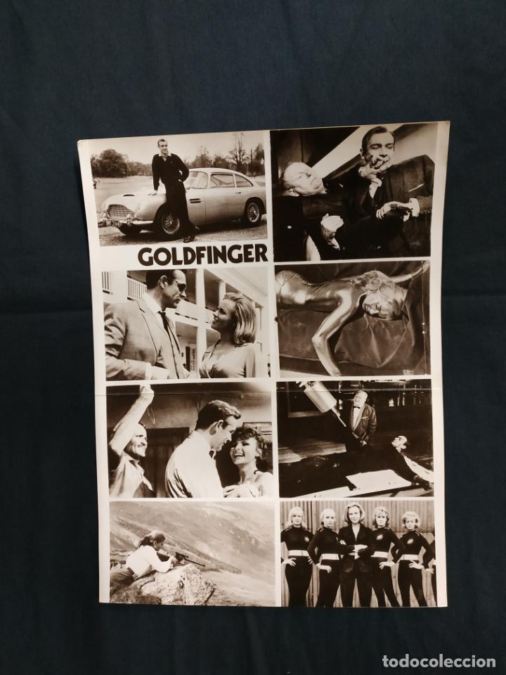 JAMES BOND CONTRA GOLDFINGER - SEAN CONNERY - GERT FROBE - HONOR BLACKMAN (Cine - Guías Publicitarias de Películas )
