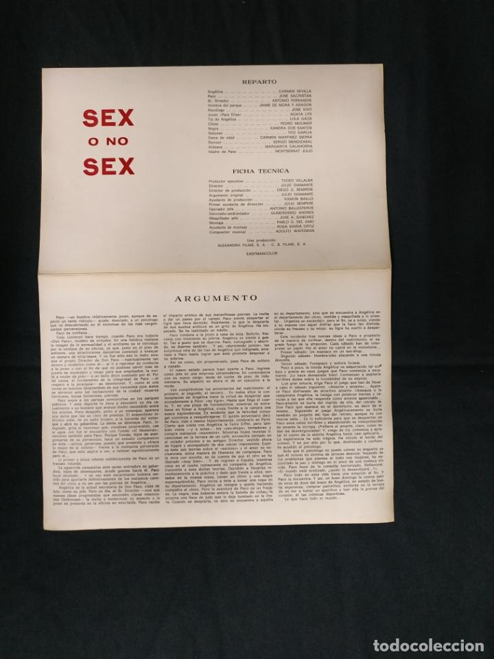 Cine: SEX O NO SEX - CARMEN SEVILLA - JOSE SACRISTAN - AGATA LYS - - Foto 2 - 182991810