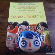 Cine: LA VIDA DE CALABACIN - ANIMACION - DIR. CLAUDE BARRAS - GUIA ORIGINAL VERCINE AÑO 2016. Lote 183019906