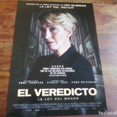 Cine: EL VEREDICTO LA LEY DEL MENOR - EMMA THOMPSON, STANLEY TUCCI - GUIA ORIGINAL VERTIGO AÑO 2017. Lote 183021180