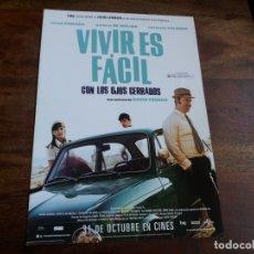 Cine: VIVIR ES FACIL CON LOS OJOS CERRADOS - JAVIER CAMARA, NATALIA DE MOLINA - GUIA ORIGINAL AÑO 2013. Lote 183022275