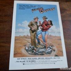 Cine: VUELVEN LOS CARADURAS - BURT REYNOLDS, SALLY FIELD, JACKIE GLEASON - GUIA ORIGINAL C.I.C AÑO 1980. Lote 183024078