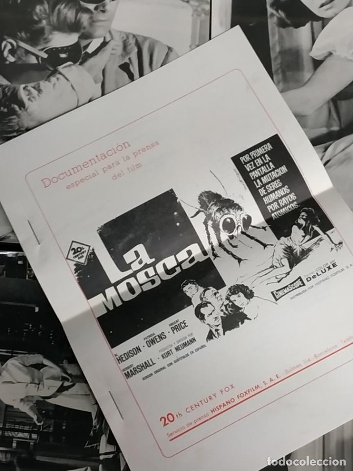 LA MOSCA - DOCUMENTACION ESPECIAL PARA LA PRENSA + 4 FOTOGRAFIAS ORIGINALES - (Cine - Guías Publicitarias de Películas )