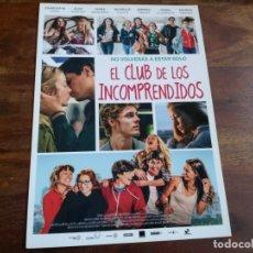 Cine: EL CLUB DE LOS INCOMPRENDIDOS - IVANA BAQUERO, ALEX MANURY - GUIA ORIGINAL DEAPLANETA AÑO 2014. Lote 183203400