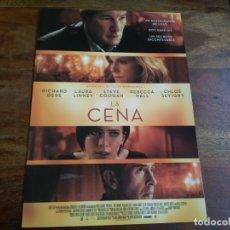 Cine: LA CENA - RICHARD GERE, LAURA LINNEY, STEVE COOGAN, REBECCA HALL - GUIA ORIGINAL DEAPLANETA AÑO 2017. Lote 183203540