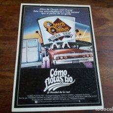 Cine: COMO FLOTAS TIO - CHEECH MARIN, TOMMY CHONG, EVELYN GUERRERO - GUIA ORIGINAL C.I.C AÑO 1980. Lote 183204026
