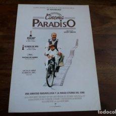 Cine: CINEMA PARADISO - PHILIPPE NOIRET, JACQUES PERRIN, SALVATORE CASCIO - GUIA ORIGINAL AÑO 2013. Lote 183204681