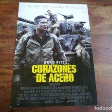 Cine: CORAZONES DE ACERO - BRAD PITT, LOGAN LERMAN,SHIA LABEOUF,MICHAEL PEÑA - GUIA ORIGINAL SONY AÑO 2014. Lote 183204995