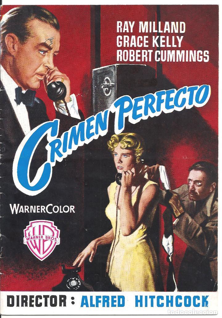 G8966 CRIMEN PERFECTO ALFRED HITCHCOCK GRACE KELLY GUIA ORIGINAL WARNER ESTRENO (Cine - Guías Publicitarias de Películas )