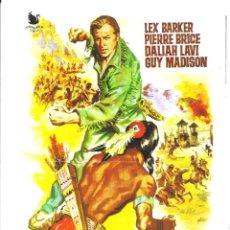 Cine: G8969 ULTIMA BATALLA DE LOS APACHES GUIA DOBLE ORIGINAL INTERPENINSULAR LEX BARKER KARL MAY. Lote 183420785