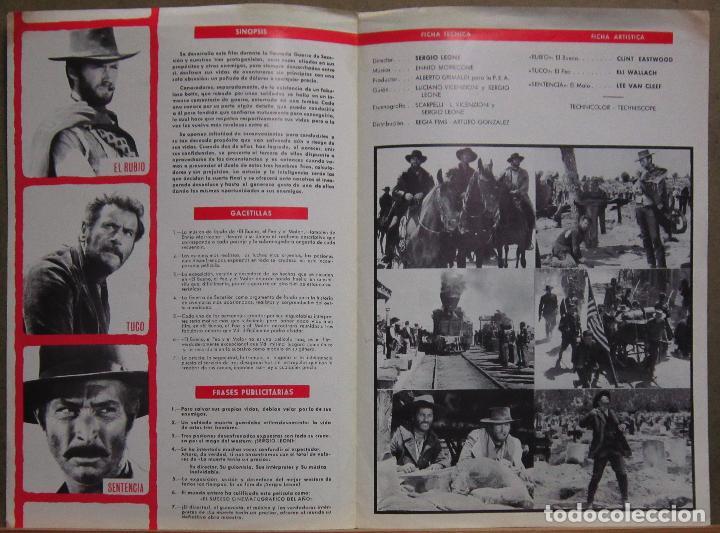 Cine: G8971 EL BUENO EL FEO Y EL MALO CLINT EASTWOOD SERGIO LEONE GUIA ORIGINAL ESTRENO REGIA - Foto 2 - 183421625