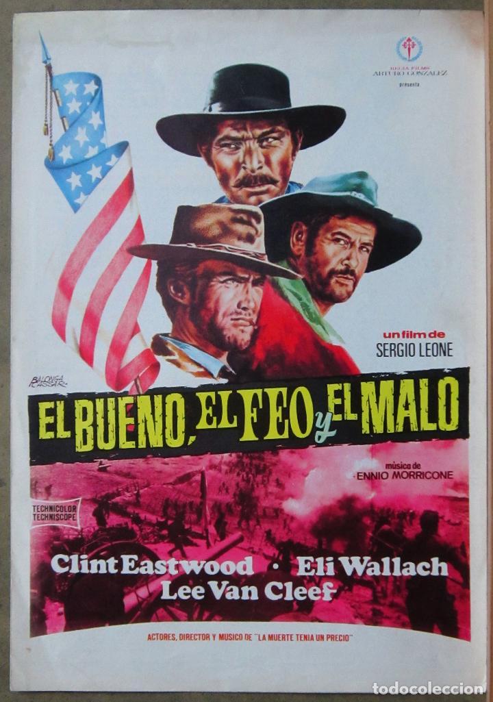 G8971 EL BUENO EL FEO Y EL MALO CLINT EASTWOOD SERGIO LEONE GUIA ORIGINAL ESTRENO REGIA (Cine - Guías Publicitarias de Películas )
