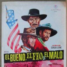 Cine: G8971 EL BUENO EL FEO Y EL MALO CLINT EASTWOOD SERGIO LEONE GUIA ORIGINAL ESTRENO REGIA. Lote 183421625
