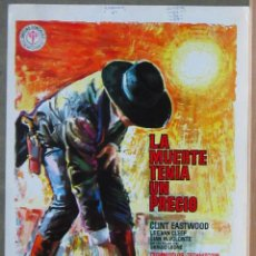 Cine: G8972 LA MUERTE TENIA UN PRECIO CLINT EASTWOOD SERGIO LEONE GUIA ORIGINAL ESTRENO REGIA. Lote 183422130