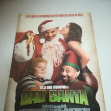 Cine: GUIA DE CINE. BAD SANTA. BILLY BOB THORNTON. VER INTERIOR. Lote 183512990