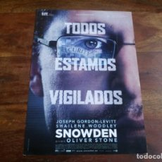 Cine: SNOWDEN - JOSEPH GORDON-LEVITT, SHAILENE WOODLEY, OLIVER STONE - GUIA ORIGINAL VERTIGO AÑO 2016. Lote 183609986