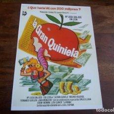Cine: LA GRAN QUINIELA - Mª LUISA SAN JOSE, EVA LEON, MAXIMO VALVERDE - GUIA ORIGINAL LAUREN AÑO 1984. Lote 183732816