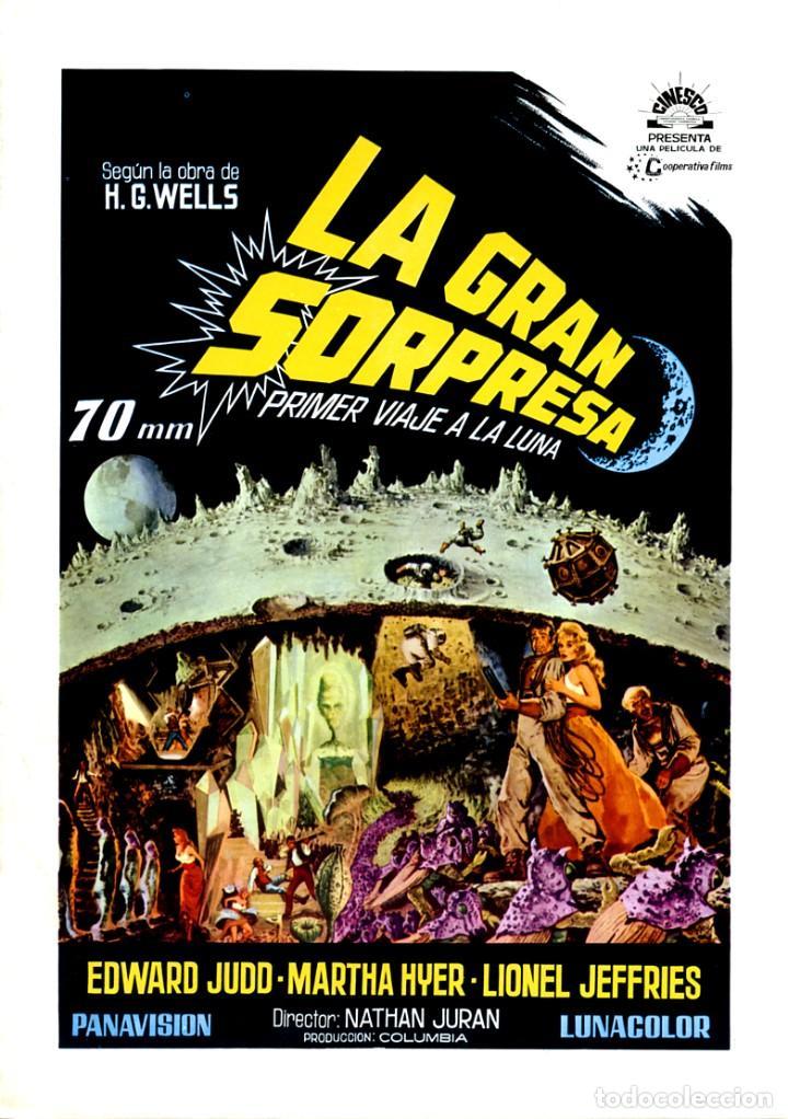 LA GRAN SORPRESA 1964 (GUÍA ORIGINAL DOBLE CON FOTOS DE SU ESTRENO EN ESPAÑA) ÚNICA EN TODOCOLECCION (Cine - Guías Publicitarias de Películas )