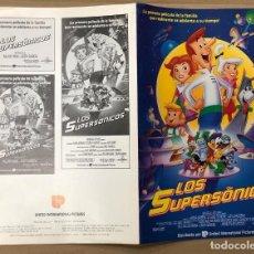 Cinéma: GUIA PUBLICITARIA LOS SUPERSONICOS. CON 2 FOTOGRAFIAS Y FOLLETO GUIA TECNICA. Lote 183911013