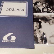 Cine: DEAD MAN JOHNNY DEPP GUIA PRENSA + 2 FOTOGRAFÍAS. Lote 184287211