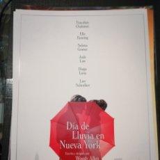 Cinéma: DÍA DE LLUVIA EN NUEVA YORK GUIA PUBLICITARIA. Lote 237392025
