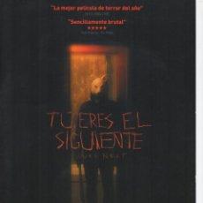 Cine: TÚ ERES EL SIGUIENTE. Lote 186303607