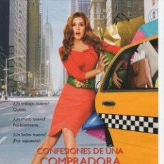 Cine: CONFESIONES DE UNA COMPRADORA COMPULSIVA. Lote 188639942
