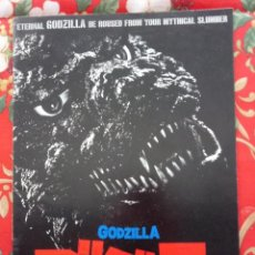 Cine: GUÍA PROGRAMA PRESSBOOK LUJO JAPÓN GODZILLA 1984 . KAIJU. VERSIÓN JAPONESA NO MODIFICADA. VER ABAJO.. Lote 189296580