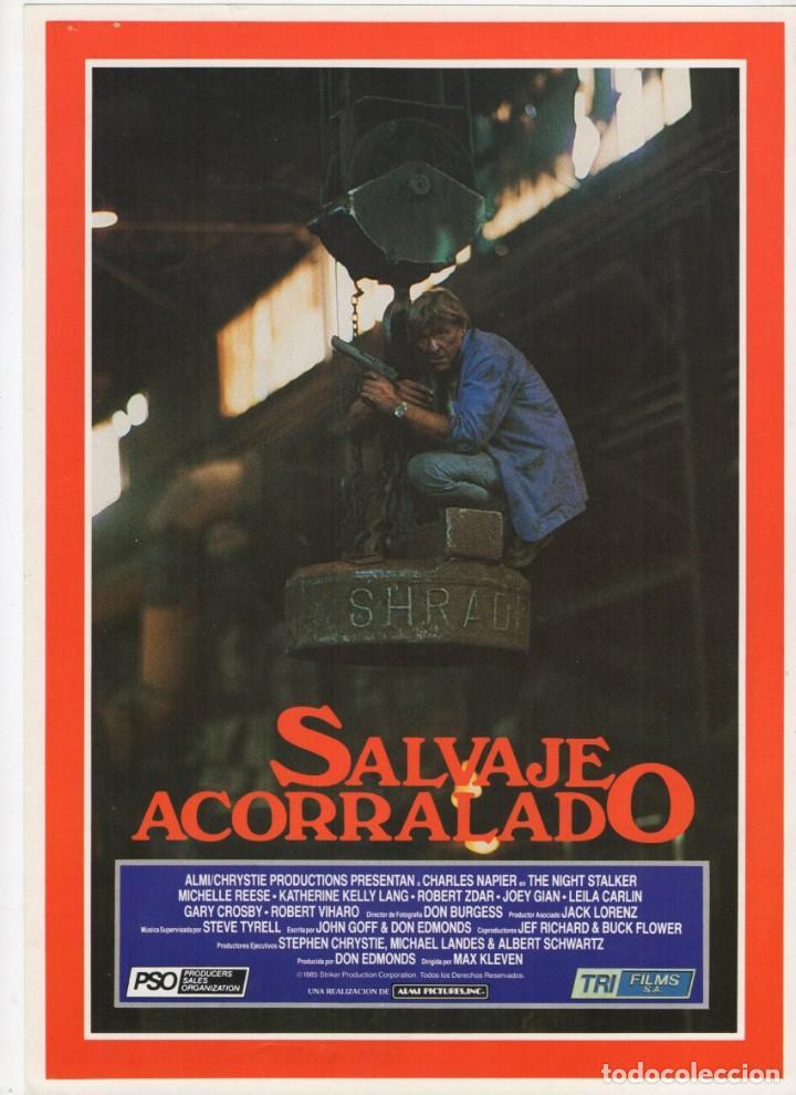 SALVAJE ACORRALADO (Cine - Guías Publicitarias de Películas )